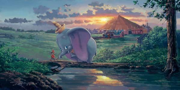 Disney Fine Art ディズニーファインアート ダンボ レア 限定 ディズニーグッズの画像