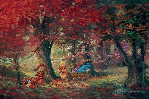Disney Fine Art ディズニーファインアート クマのプーさん 限定 ディズニーグッズの画像