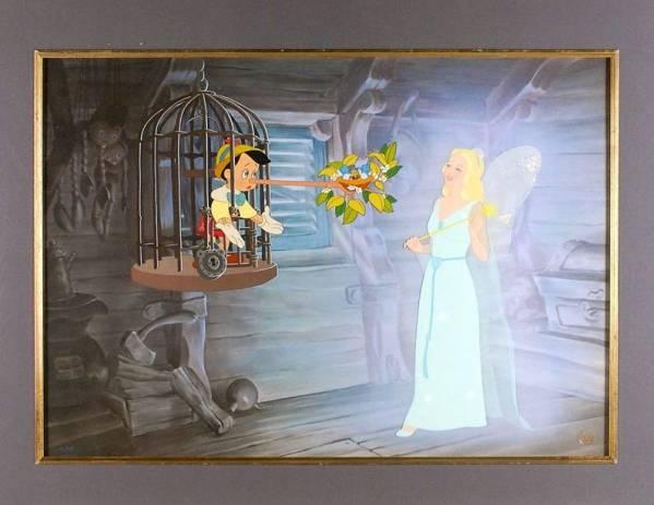 ディズニー ピノキオ 原画 セル画 限定 Disney ※世界200枚限定 ディズニーグッズの画像