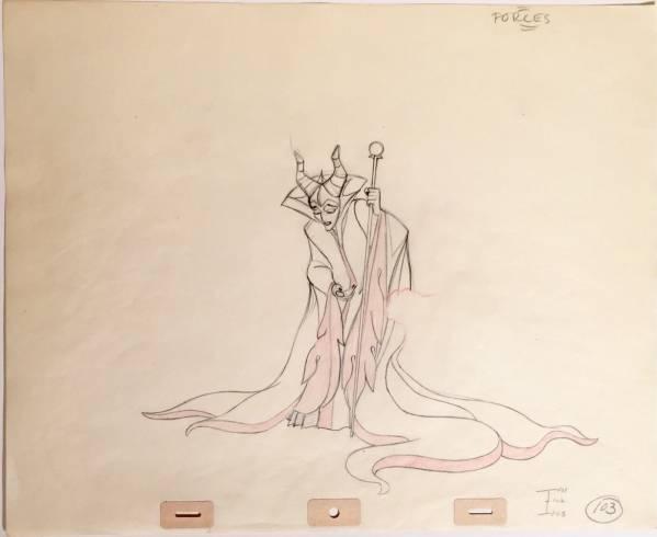 ディズニー 眠れる森の美女 マレフィセント 原画 セル画 限定 ディズニーグッズの画像
