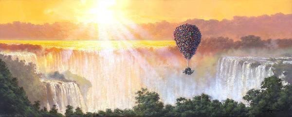 Disney Fine Art ディズニー カールじいさんの空飛ぶ家 ディズニーグッズの画像