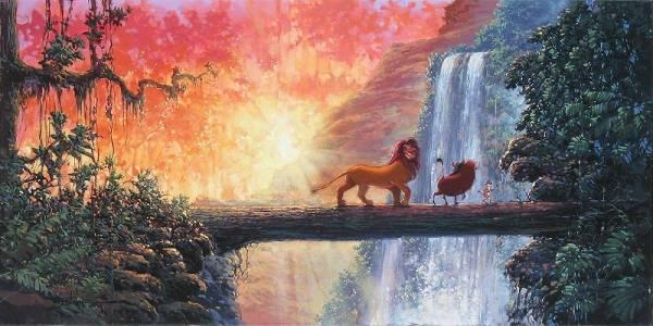 Disney Fine Art ディズニーファインアート ライオンキング 限定 ディズニーグッズの画像