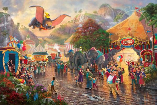Disney Fine Art ディズニーファインアート ダンボ 限定 ディズニーグッズの画像