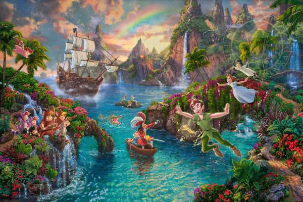 Disney Fine Art ディズニーファインアート ピーターパン 限定 ディズニーグッズの画像