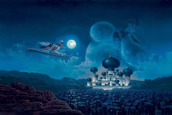 Disney Fine Art ディズニーファインアート アラジン 限定 レア ディズニーグッズの画像