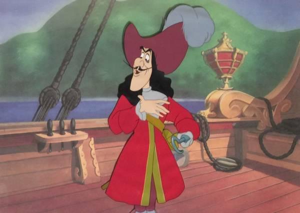 ディズニー ピーターパン フック船長 セル画 限定 レア Disney ディズニーグッズの画像