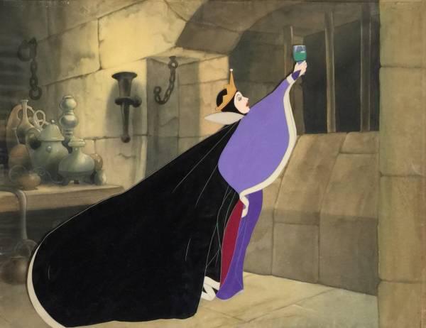 ディズニー 白雪姫 女王 魔女 原画 セル画 Disney 世界1枚限定