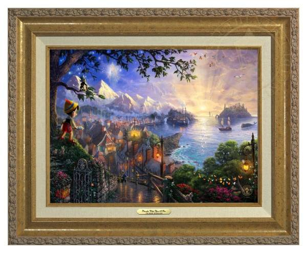 Disney Fine Art ディズニーファインアート ピノキオ 限定 ディズニーグッズの画像