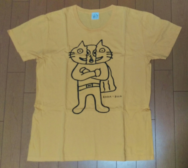 KANA-BOON ドッペルヒーローTシャツ イエロー M ビニールバッグ ライブグッズの画像