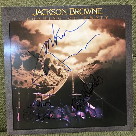 Jackson Browne David Lindley Leland Skalarサイン直筆レコード