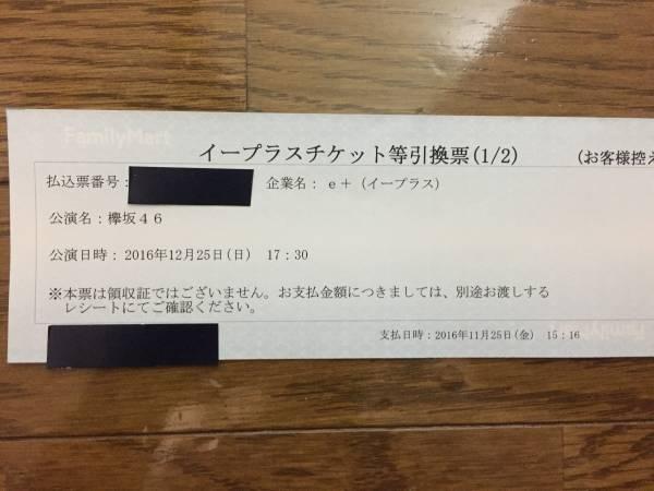 欅坂46 12/25 千秋楽ワンマンライブ 有明 同伴入場1枚