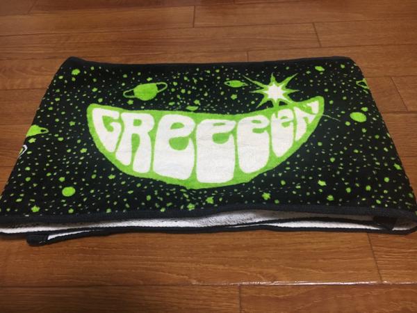 2015 9SJツアー メンバーデザイン マフラータオル GReeeeN 中古 ライブグッズの画像