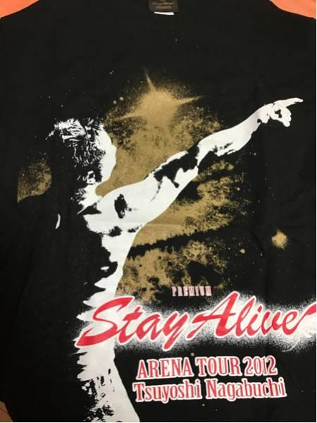 長渕剛Stay Alive ARENA TOUR 2012ツアーTシャツ光 L 黒 1回着用