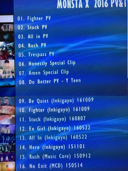 MONSTA X PV&TV 2016 DVD レーベル有 THE CLAN GUILTY 送料込