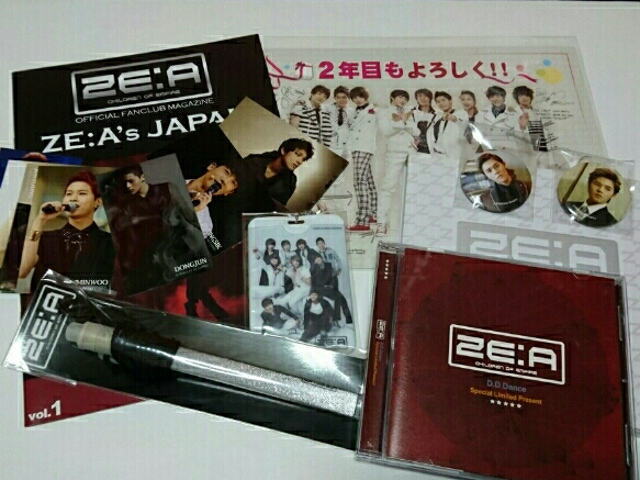 ZE:A[会報,ペンライト,CD他セット]シワン/ヒョンシク/ドンジュン コンサートグッズの画像