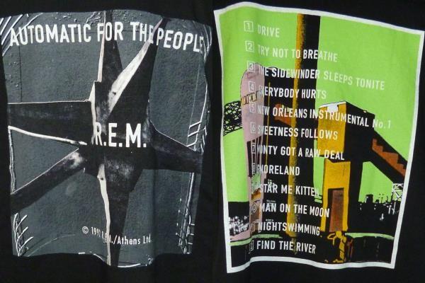 未使用?USA輸入1992年 R.E.M. アールイーエム バンドTシャツ
