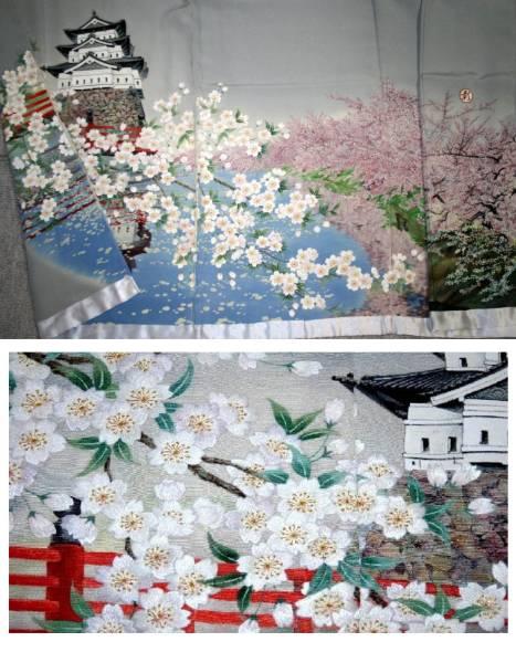 ◆新品正絹訪問着◆一品物◆手刺繍の訪問着オリジナルNO7_画像3