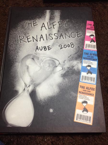 THE ALFEE AUBE2008 RENAISSANCEパンフレット写真集