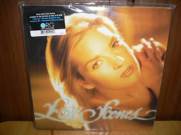 180g重量盤2枚組 シリアルナンバー入り・Wジャケ名盤レアDiana Krall/Love Scens 2LP45回転180g超高音質