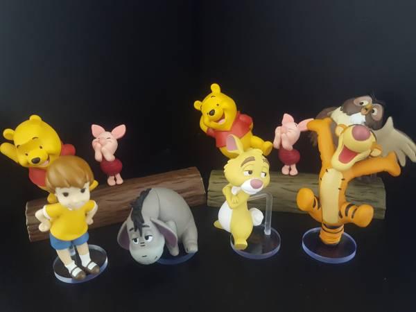 Disney ディズニー ワールドコレクタブルフィギュア WCF ワーコレ story.03「くまのプーさん」 クリストファーロビンなど4種 用台座 ディズニーグッズの画像