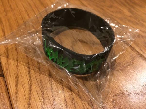 MONOEYES 最新ツアーグッズ ラバーバンド 黒×緑 ライブグッズの画像