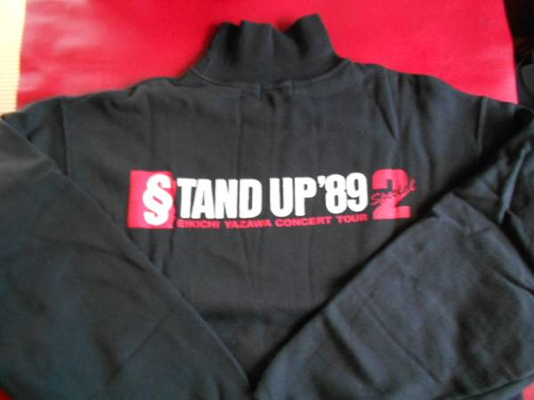 1989 STAND UP 2 トレーナー 黒 矢沢永吉 中古