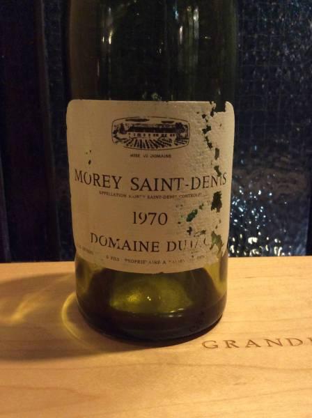 ヴィンテージ'70 デュジャック モレ サン ドニ ワイン空き瓶_画像1