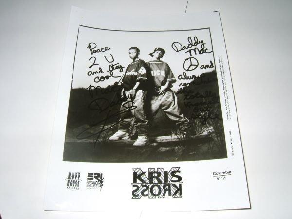 KRIS KROSS クリスクロス直筆サイン プロモーション写真★HIPHOP