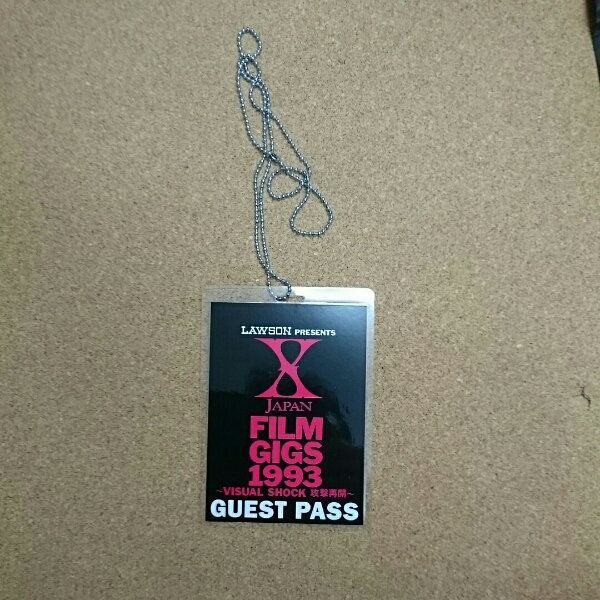 X JAPAN FILM GIGS 1993 GUEST PASS ゲストパス CD付き