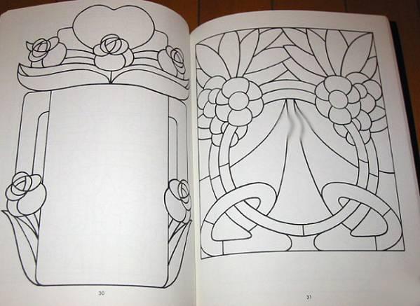 ステンドグラスパターンブック:実行可能なプロジェクトの為の88デザイン/ Stained Glass Pattern Book: 88 Designs (輸入品_画像4