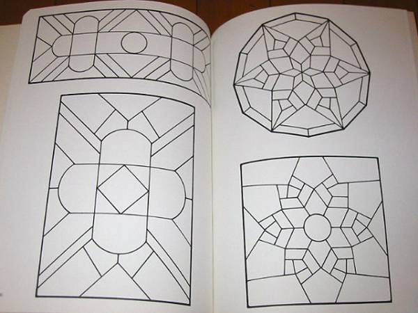 洋書 120の伝統的なステンドグラス パターン/ 120 Traditional Stained Glass Patterns(輸入品_画像2