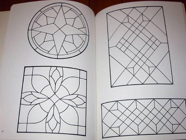 洋書 120の伝統的なステンドグラス パターン/ 120 Traditional Stained Glass Patterns(輸入品_画像5
