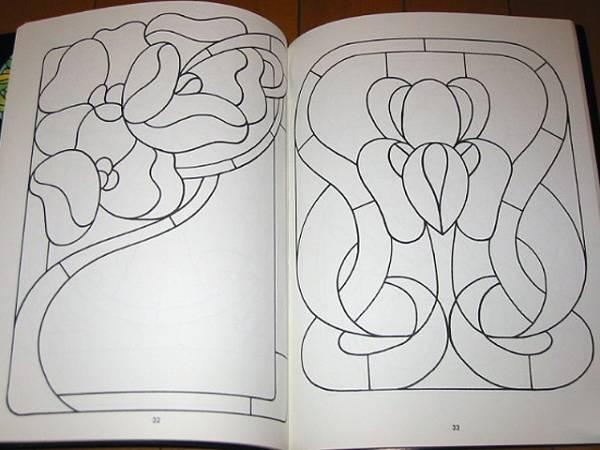 ステンドグラスパターンブック:実行可能なプロジェクトの為の88デザイン/ Stained Glass Pattern Book: 88 Designs (輸入品_画像3