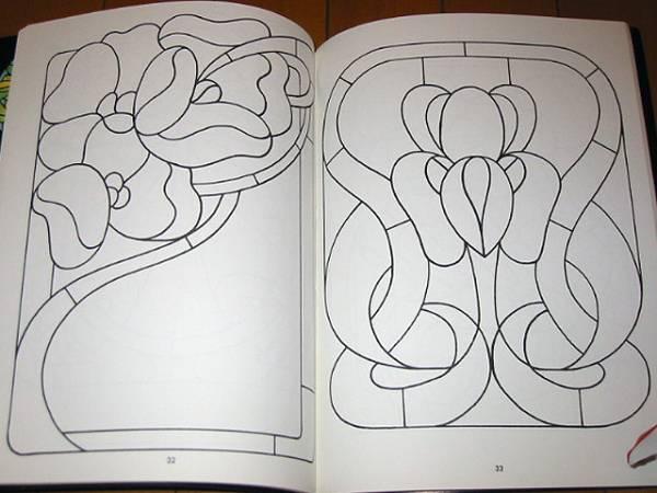 ステンドグラスパターンブック:実行可能なプロジェクトの為の88デザイン/ Stained Glass Pattern Book: 88 Designs (輸入品_画像2