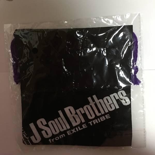 三代目JSoulBrothers MP ガチャ 巾着 黒地白ロゴ