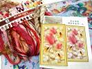送料無料 大判クロスステッチ 刺繍キット 水辺の金魚 水連の花