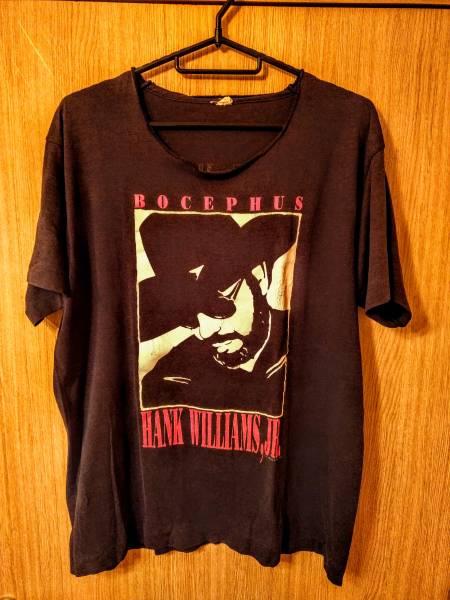 80s USA製 HANK WILLIAMS,JR. ビンテージ Tシャツ ロック バンド