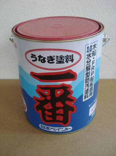 日本ペイント うなぎ一番 赤 4kg レッド うなぎ塗料一番 船底塗料 即日発送も_画像1