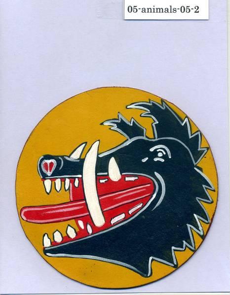 春季処分セール/完全手描きパッチ■fighter boars head■2nd/ハンドペイント_お譲りする実物