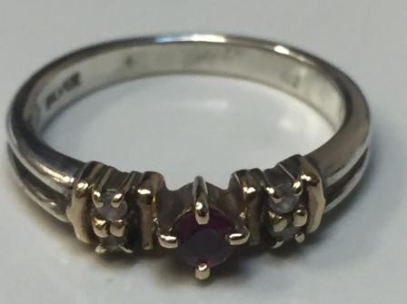 4℃ K10×SILVER コンビリング 指輪 #9号 レディースアクセサリー 服飾品 装飾品 シルバーリング【2479】_画像1