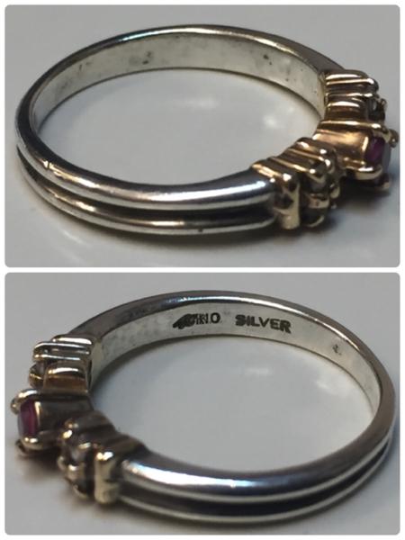 4℃ K10×SILVER コンビリング 指輪 #9号 レディースアクセサリー 服飾品 装飾品 シルバーリング【2479】_画像2