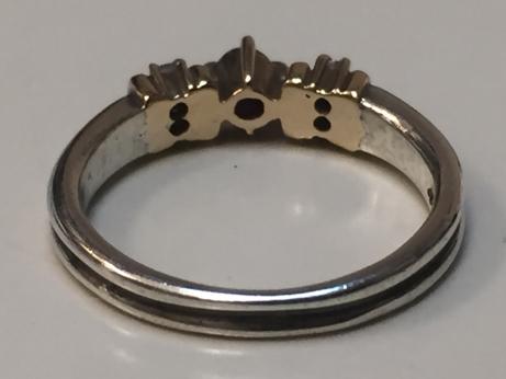 4℃ K10×SILVER コンビリング 指輪 #9号 レディースアクセサリー 服飾品 装飾品 シルバーリング【2479】_画像3