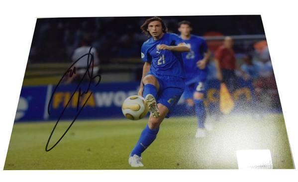 アンドレア・ピルロ サイン フォト インテル ブレシア acミラン ユベントス サッカーイタリア代表  グッズの画像