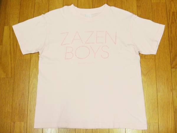 【 ZAZEN BOYS 】MATSURI SESSION プリントTシャツ 薄ピンク S