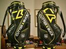 未使用 カッター&バック スタイリッシュ 希少カラー 黒黄白 ゴルフバッグ