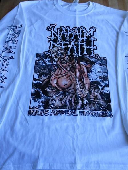 NAPALM DEATH 長袖Tシャツ mass appeal madness 白L ロンT