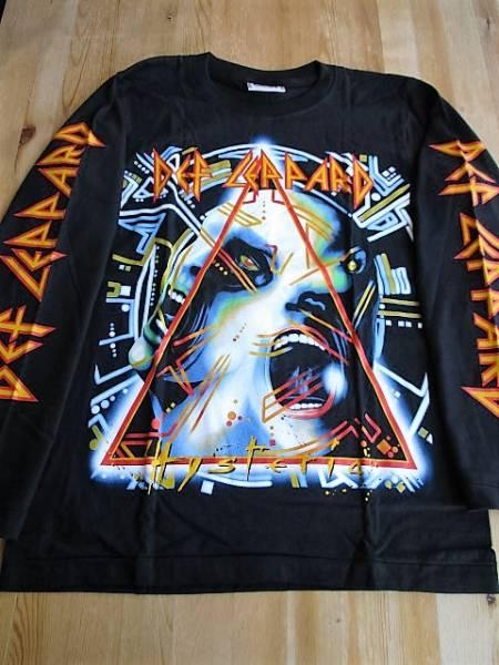 DEF LEPPARD 長袖Tシャツ hysteria 黒S ロンT / iron maiden