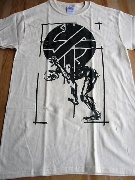 CRASS Tシャツ ベージュ S / anarco crust discharge conflict
