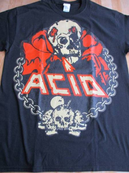 ACID Tシャツ 黒M / bulldozer abigail exciter ostrogoth