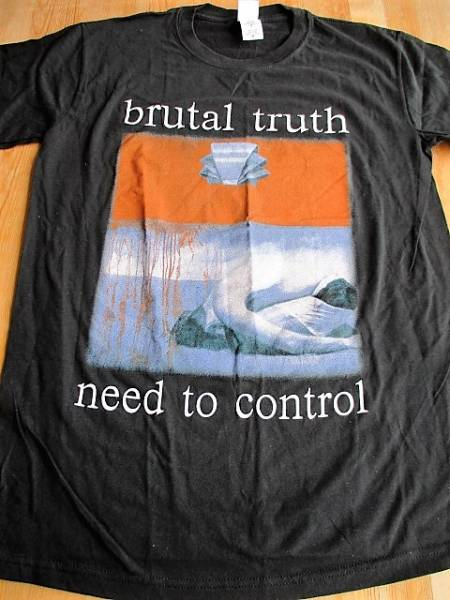 BRUTAL TRUTH Tシャツ need to control 黒M / carcass earache